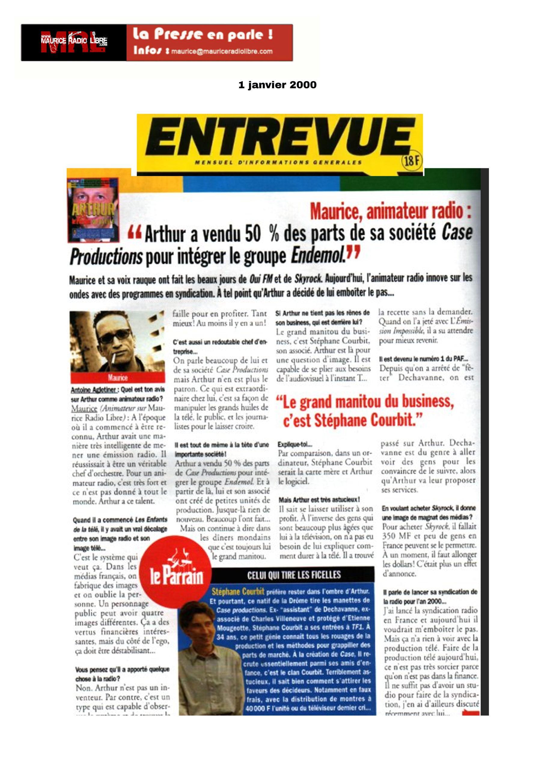 vignette Entrevue Maurice, animateur Radio - 01/01/2000