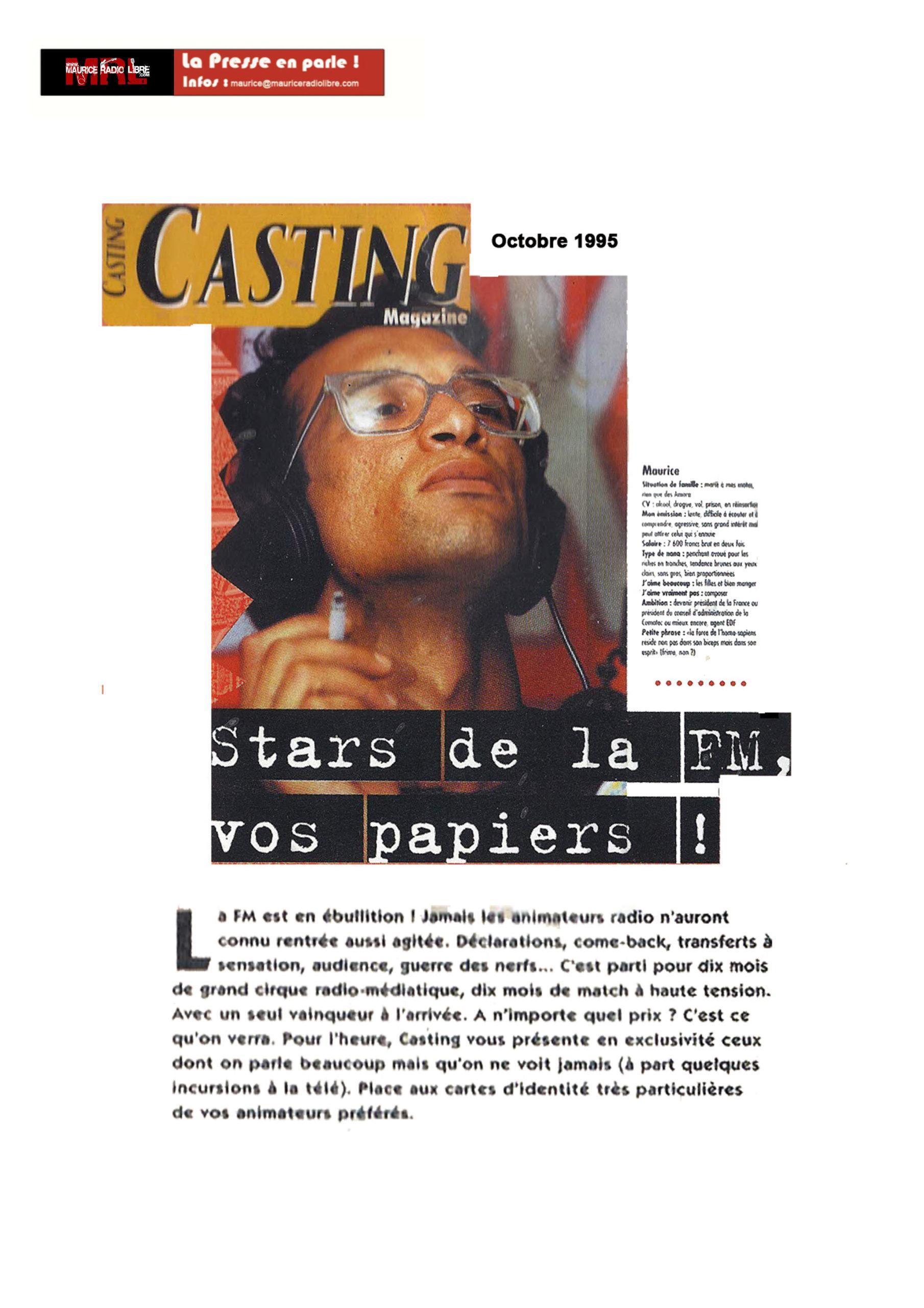 vignette CASTING Stars de la FM, vos papiers ! - Octobre 1995