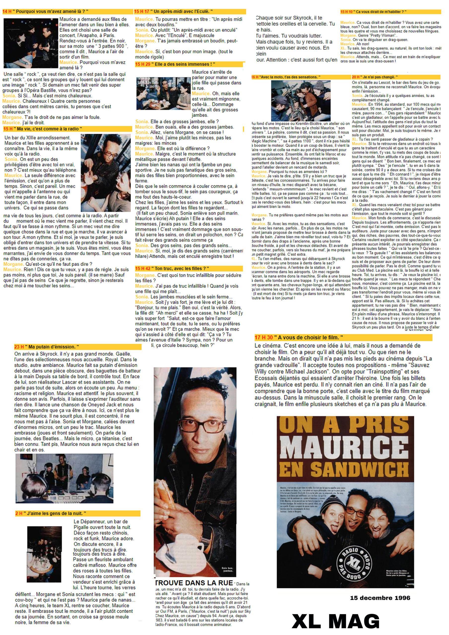 vignette XL Magazine On a pris Maurice en sandwich - 15/12/1998