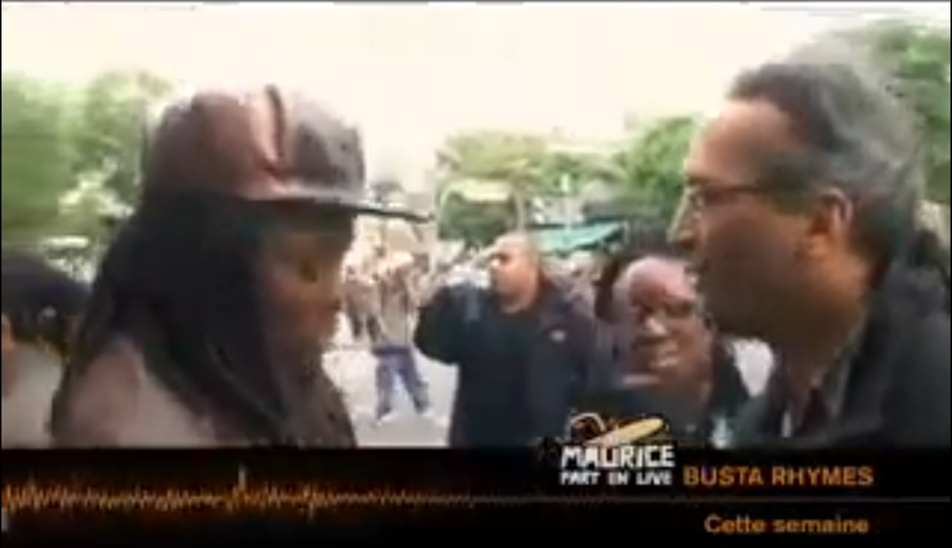 vignette Maurice part en live au concert de Busta Rhymes