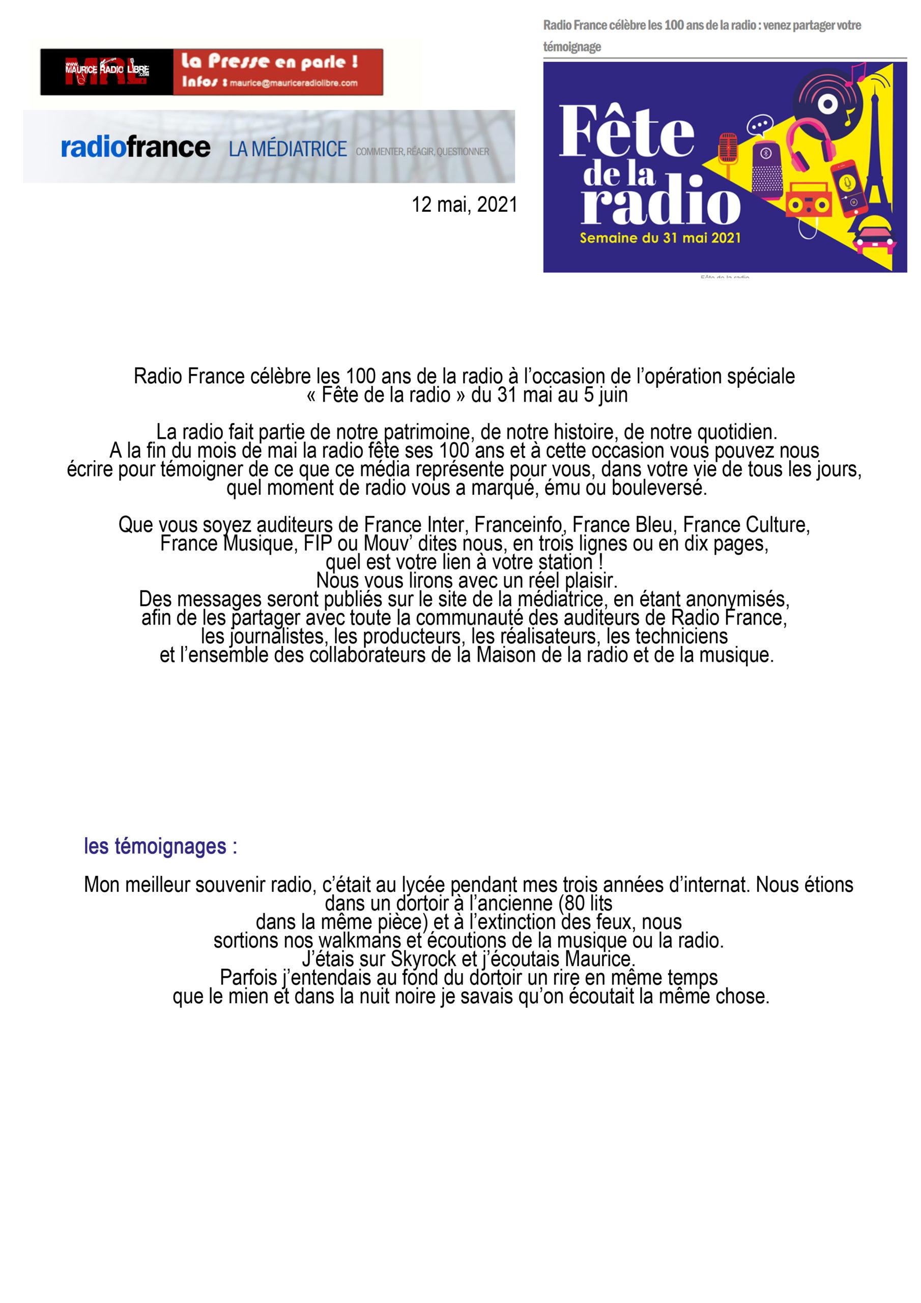 vignette Maurice cité sur Radio France mai 2021